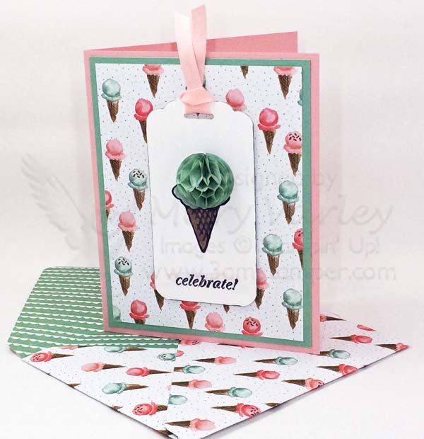 Honeycomb Cone BD Card with Matching Envelope - Visit http://www.3amstamper.com