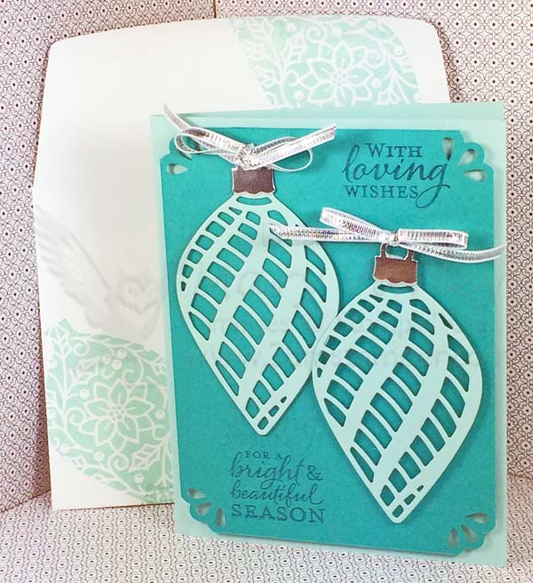 Pool Party Delicate Ornaments Card - Visit http://www.3amstamper.com