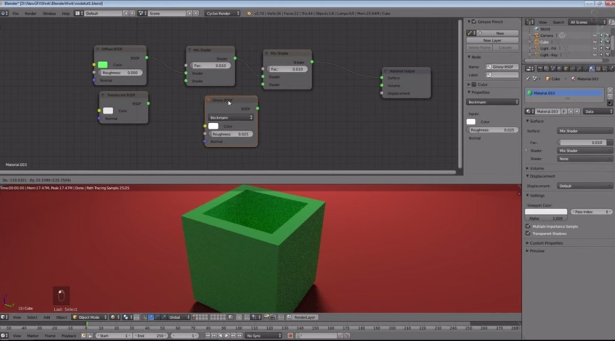 Blender Material Cycles Nodes