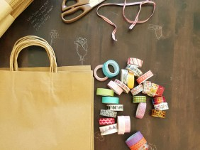 washi tape, decorating, gift bags