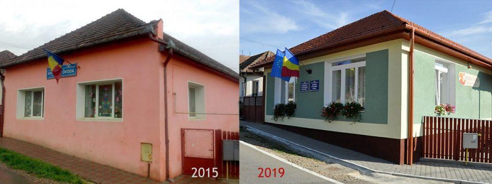 Inaugurarea grădiniței cu program prelungit din comuna Gănești, județul Mureș