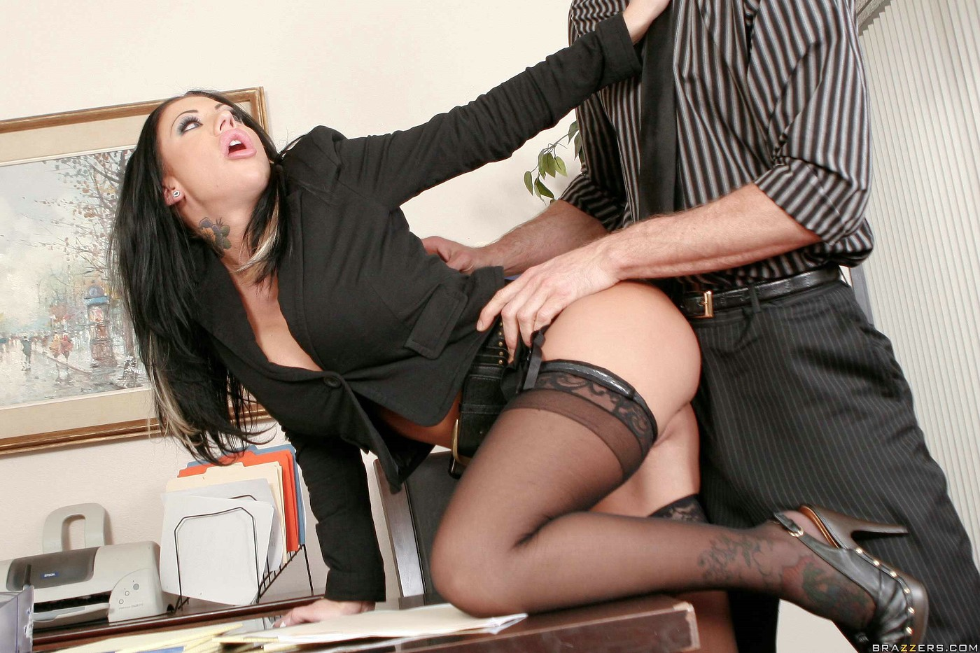 office desk fuck