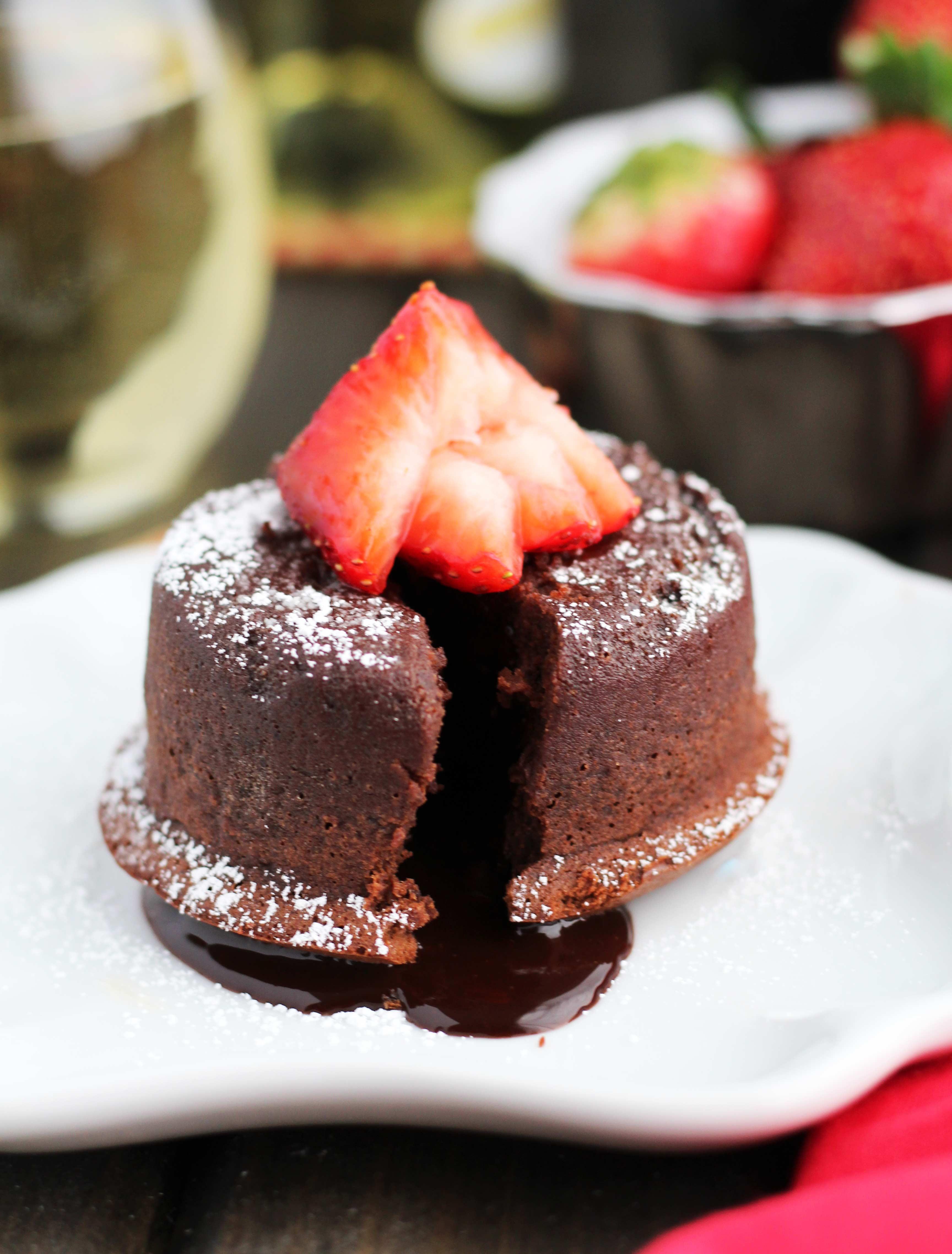 Easy Vegan Chocolate Molten Cake