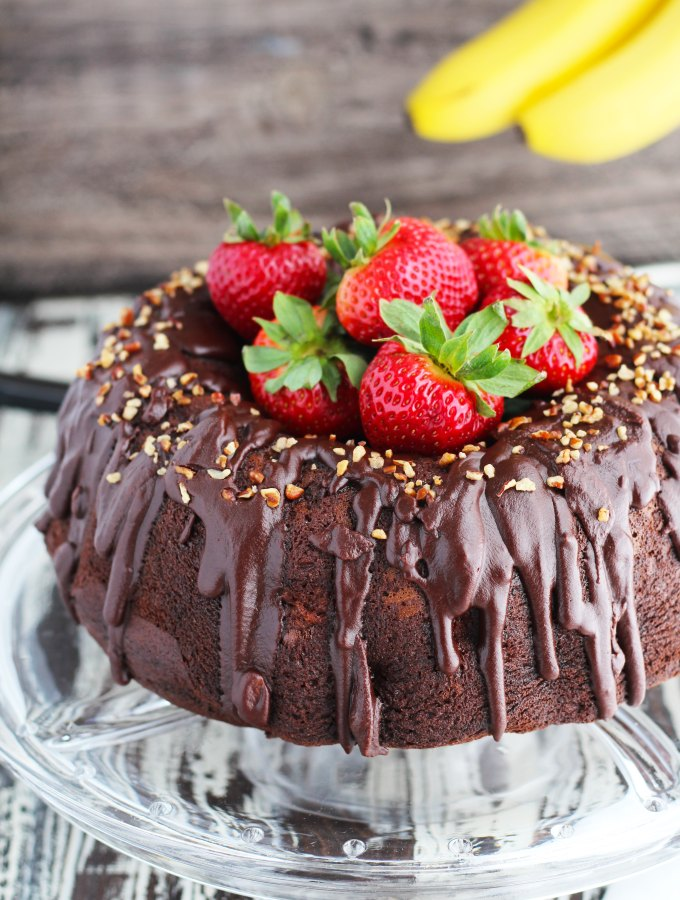 Banana Split Chocolate Bundt Cake