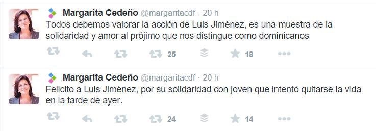 Margó felicita a Luis Carlos