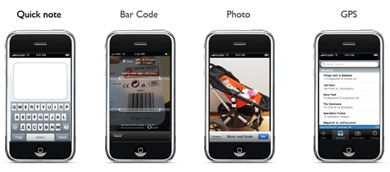 Springpad iPhone App, Ways to Capture while Mobile | 40Tech