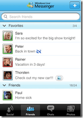 Windows Messenger iPhone