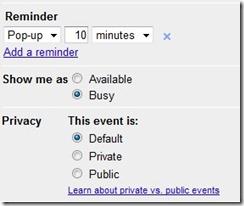 google calendar reminder