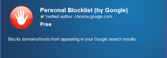 Block Sites From Search Results with the Personal Block List Extension [Chrome] | 40Tech