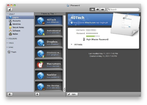 1Password app