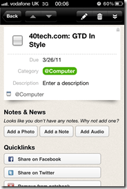 GTD in Springpad 2 | 40Tech Reader Workflow