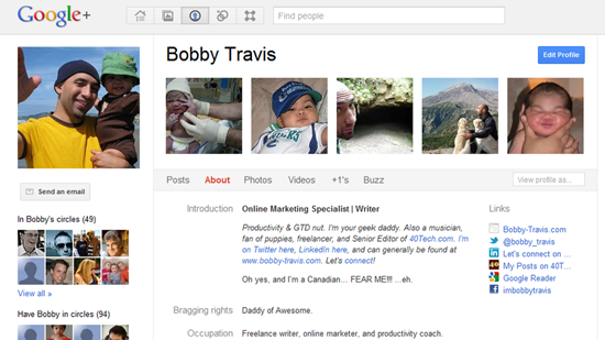 Bobby Travis Google+ Profile | 40Tech