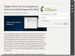 Clearly Lets You Read it Later with Single-Click Article Clipping to Evernote | 40Tech