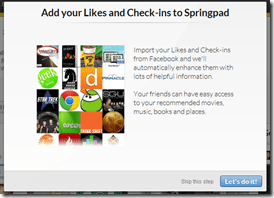 Add Facebook Likes, Check-ins to Srpingpad | 40Tech
