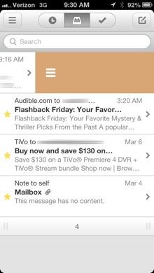 Mailbox List swipe