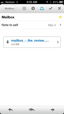 Mailbox message view