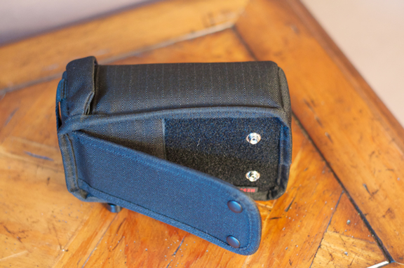 Lens case belt clip