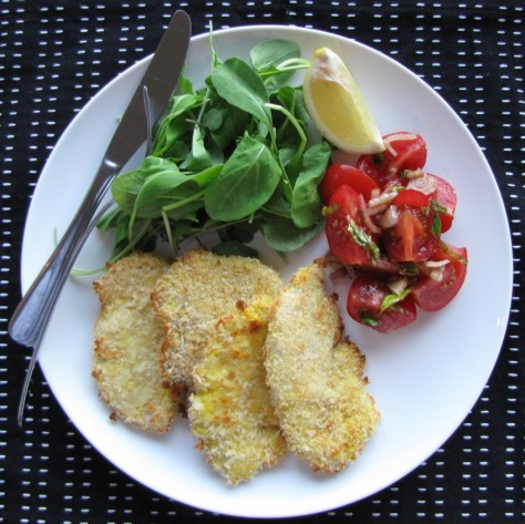 Baked Chicken Milanese with Rocket