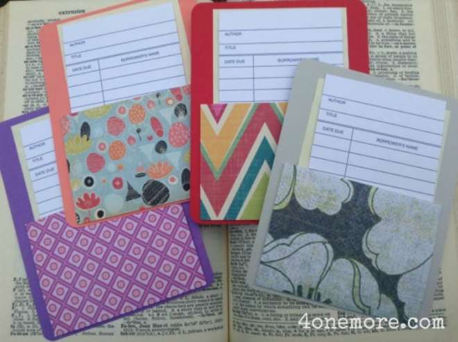 CUSTOM library card notecards by 4onemore.etsy.com