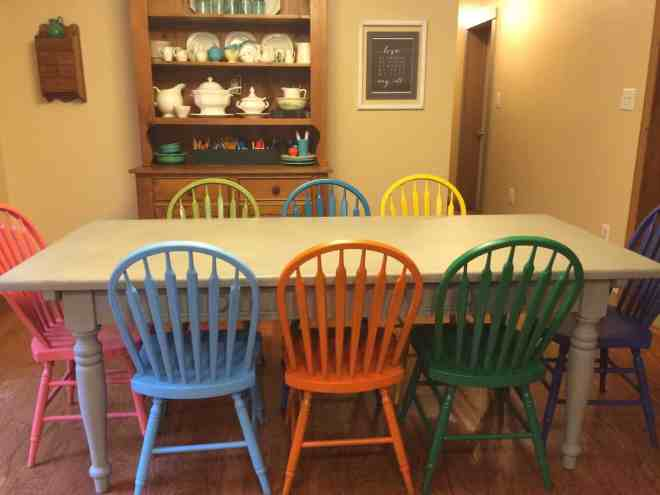 painting dining room chairs @4onemore.com