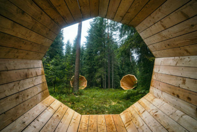 Giant Megaphones Built In Estonian Forest Amplify the Sounds of Nature