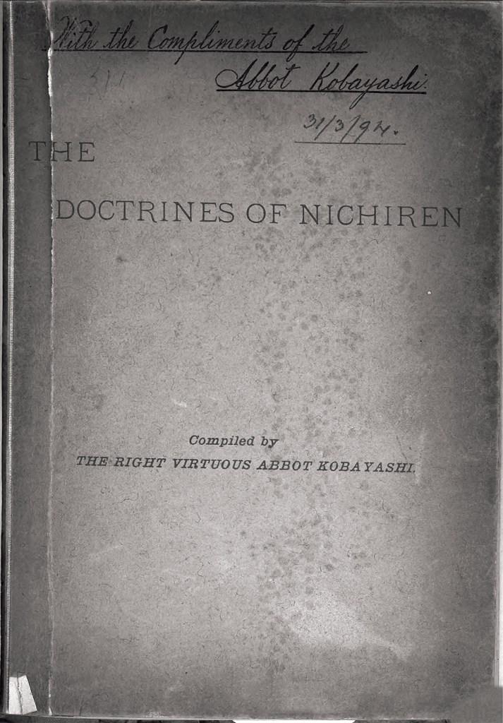The Doctrines of Nichiren, 1893