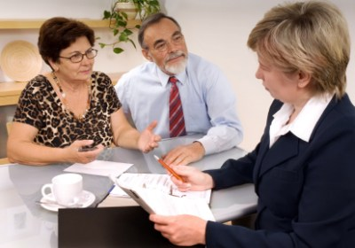 Salesperson with Customers