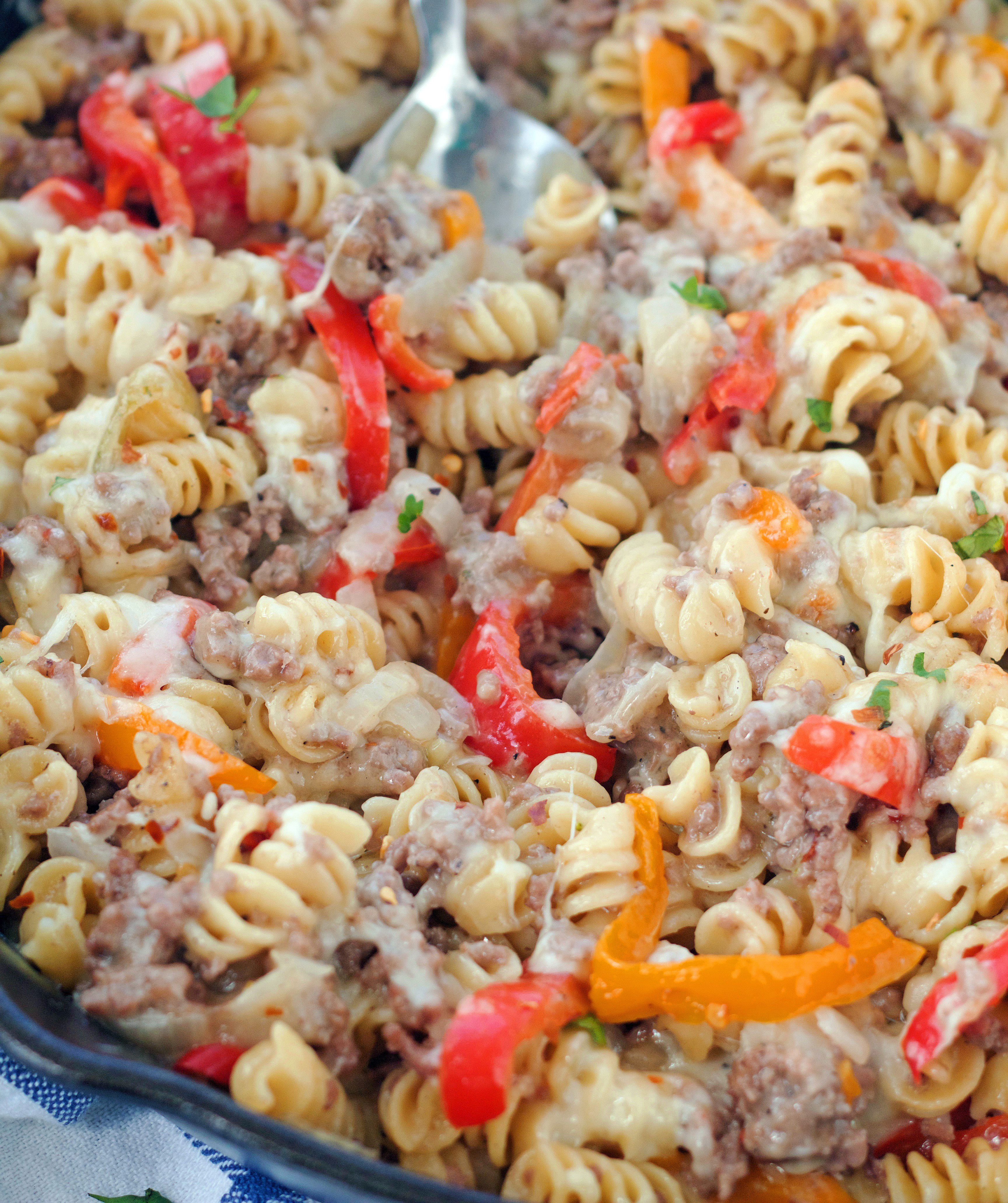 Teal Philly Cheesesteak Pasta Skillet Boys Baker Philly Cheesesteaks Near Me Philly Cheesesteak Recipe Not Sure What Your Comfort Food But At Our Housepasta Is Always At nice food Best Philly Cheesesteak