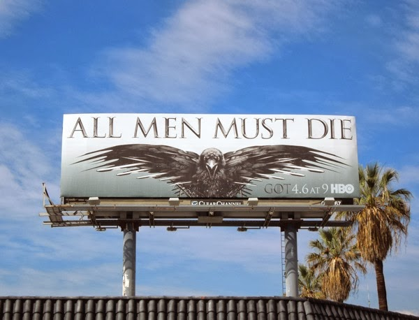 game of thrones 4 all men must die billboard