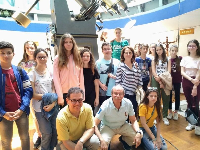 Καθηγητές και μαθητές στο Αστεροσκοπείο