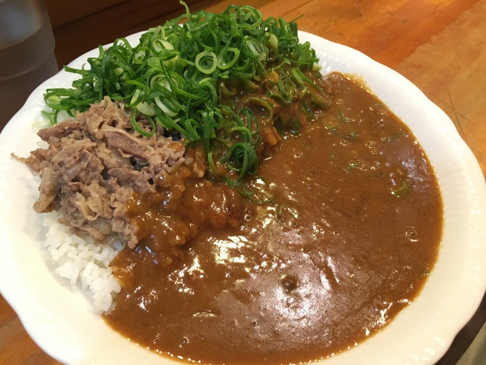 Negi beef Curry