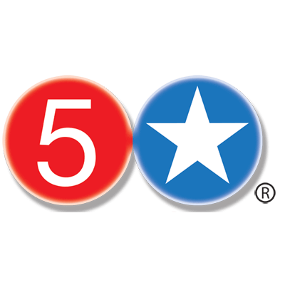Five Star Burgers Logo - Albuquerque, Santa Fe, Taos, NM & Clayton and Kirkwood MO