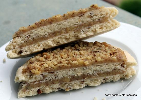 5star cookies baklava cookies top view