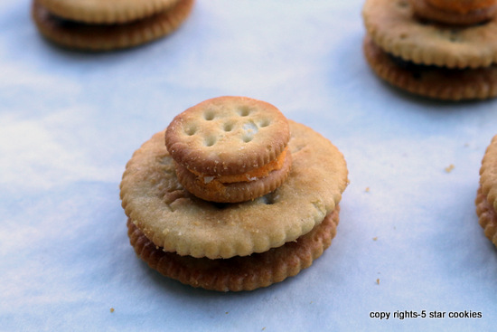 5starcookies ritz and rolo baked together with attached little ritz on the top