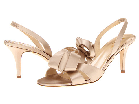 Kate Spade New York - Madison (Champagne Satin) Women's Sling Back Shoes