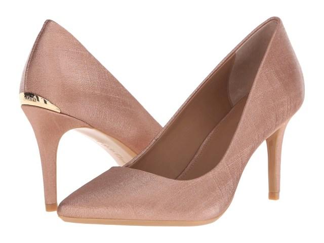 Calvin Klein - Gayle (Blush Nude Coated Matte Linen) High Heels