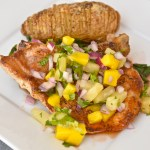 Creole Pork Chops With Pineapple-Mango Salsa, Baked Potatoes & Beet Greens – $10 or Less Meal