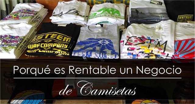 negocio rentanble de camisetas