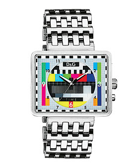 Medicine Man Bracelet Watch with Multicolored Dial