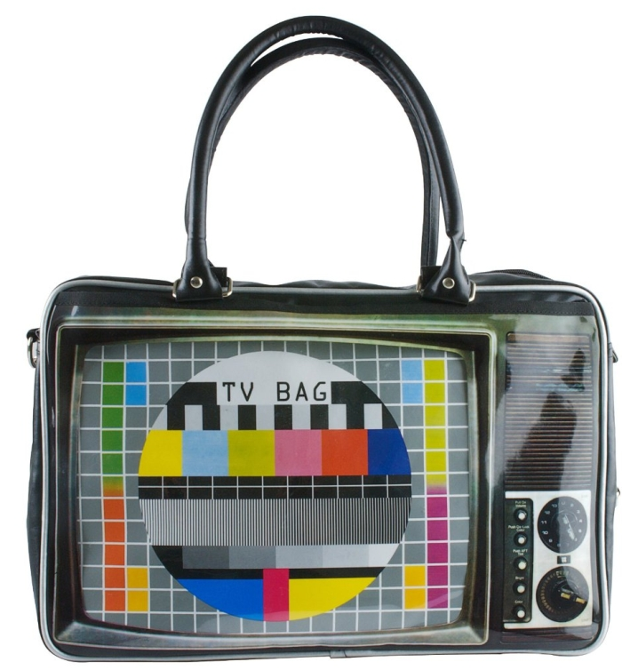 TV Print Weekend Bag