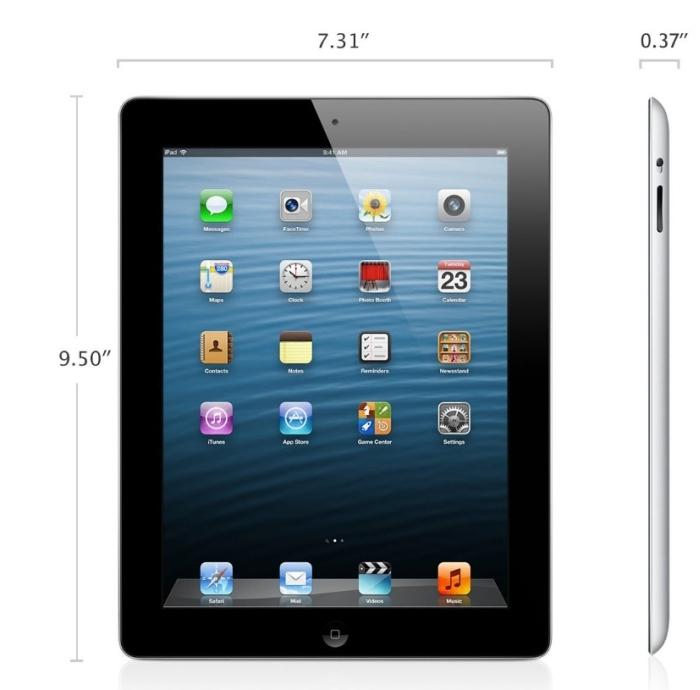 Apple iPad (4th Generation) WiFi 32GB Black