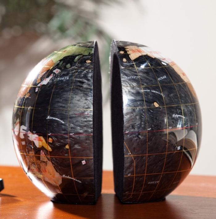 Gemstone Globe Bookend