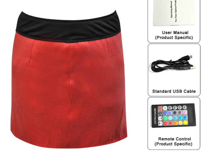 "LED Mini Skirt ""Senorita"""