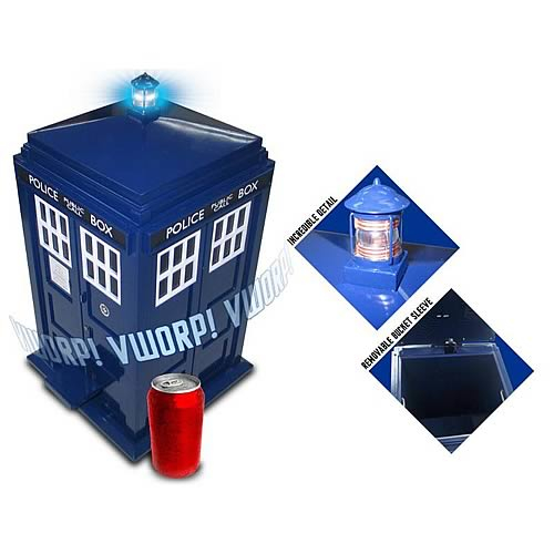 Doctor Who TARDIS Light and Sound Effect Flip-Top Trash Can