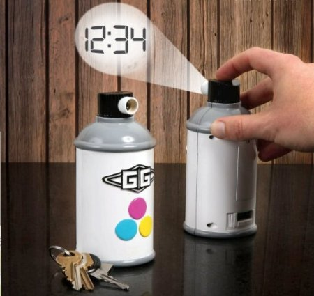 GAMAGO Spraycan Projection Clock