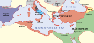 Byzantine empire, 650 AD