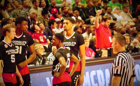 Dedric Lawson (University of Memphis Commit- Far Right)