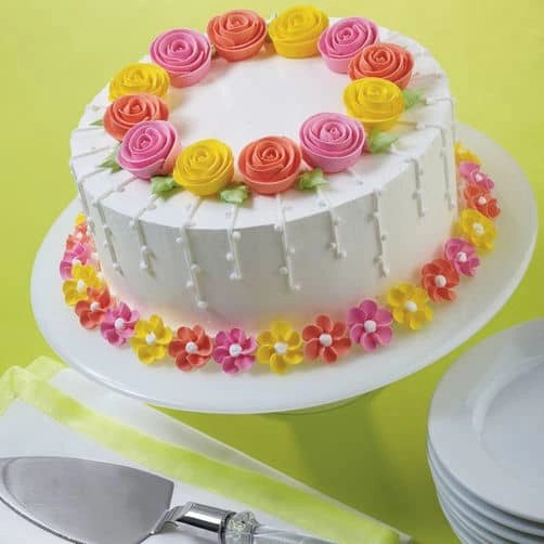 Cake Decoration Flowers Recipe : 90th Birthday Cakes - Cake Ideas for Ninety Year Olds