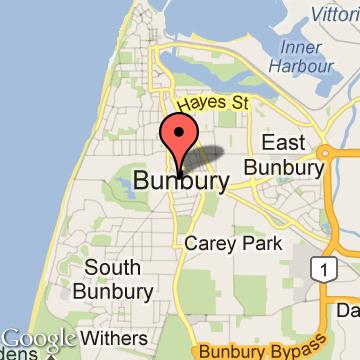 map bunbury