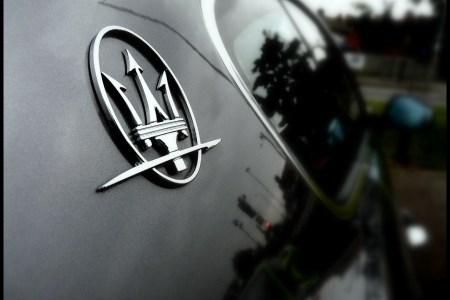 maserati car logo hd wallpaper